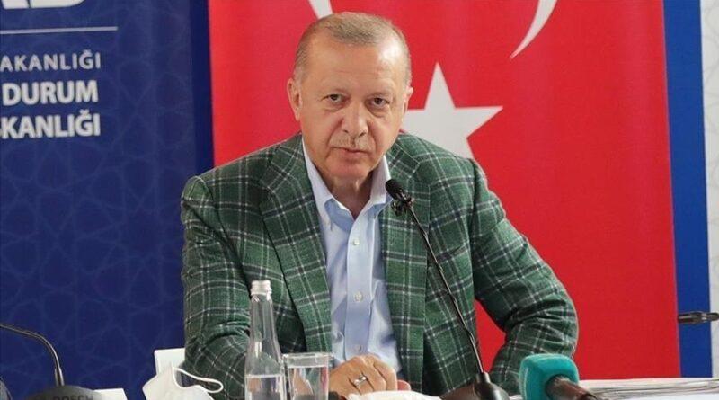 Presiden Erdogan kunjungi lokasi kebakaran hutan